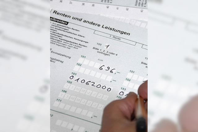 Keine Steuerkontrollen bei Rentnern
