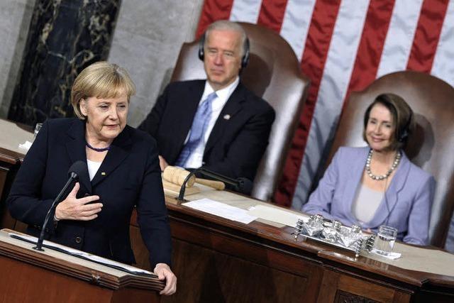 US-Kongress feiert Merkel