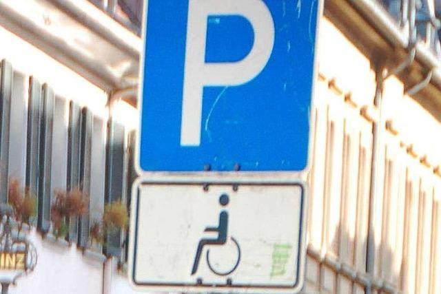 Parken nur für Behinderte