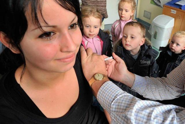 Großer Andrang bei Schweinegrippe-Impfung für Kinder