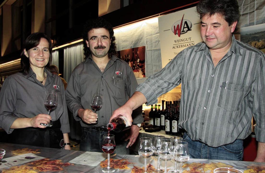 Im Ausschank des Weinguts Ackermann: e...ockener Spätburgunder Pinot Noir 2007   | Foto: Sandra Decoux-Kone
