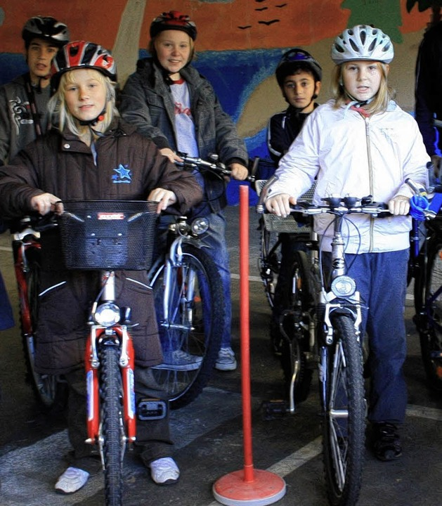 Einiges Geschick wurde den jungen Radfahrern abverlangt.     Foto: PRIVAT