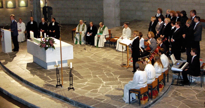 Ökumenischer Gottesdienst in St. Peter...cher Kirchen (ACK) Baden-Württemberg.   | Foto: Nikolaus Trenz