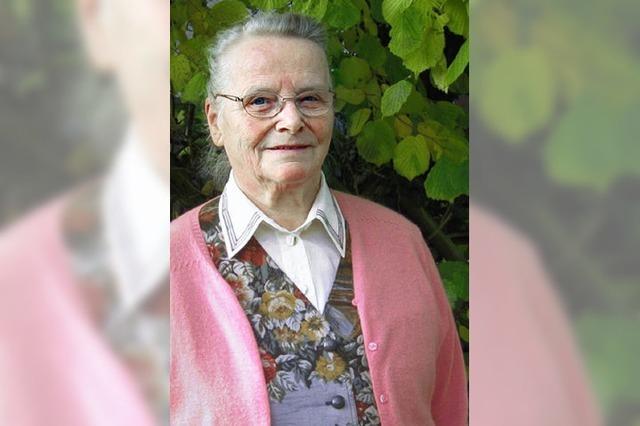 Dora Kögel wird heute 80 Jahre