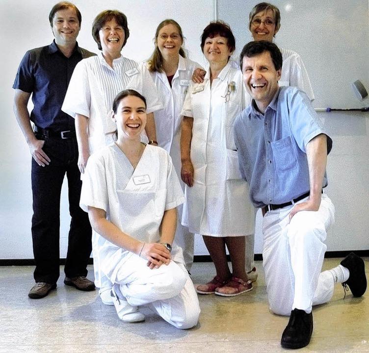 Das Team der Hochrhein-Eggberg-Klinik ...Kehl, Diabetologe Dr. Johannes Bauer.   | Foto:  Hek