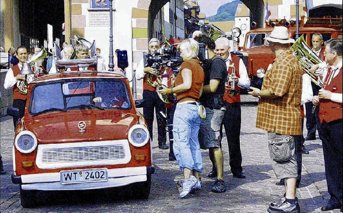 """Für den Waldshuter Feuerwehr-Trabi int...222;Sonntagstour"""" aufzeichnete.     Foto: ARCHIVBILD: EBNER"""