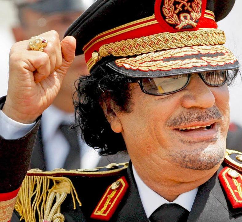 Libyens Revolutionsführer Muammar al-Gaddafi    Foto: dpa