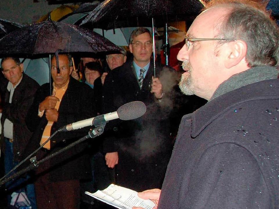 Pfarrer Knabs mahnende Worte.  | Foto: truöl
