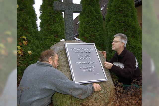 Gedenktafel für die Gefallenen der Kriege
