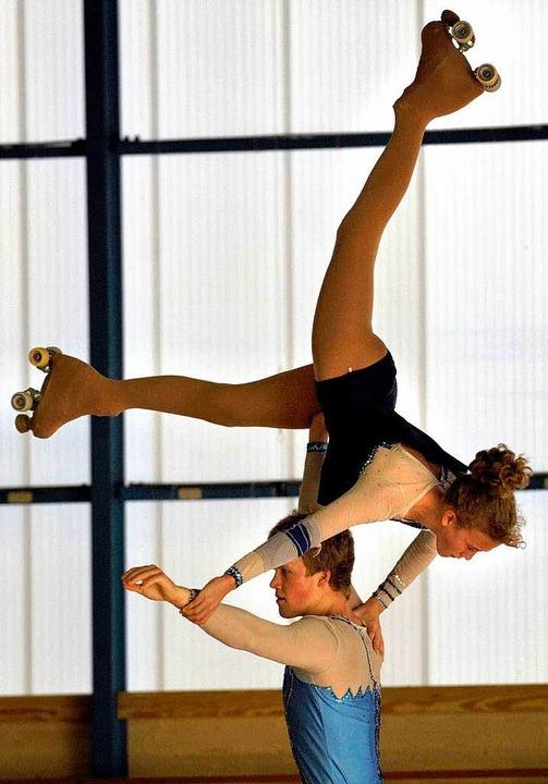Sport, Musik, Kunst, Akrobatik –...tag starten Camilla und Matthias Clad.    Foto: ddp