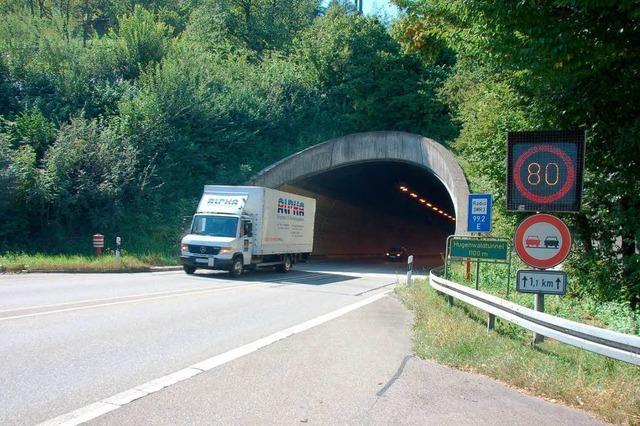 Heute Verkehrszählung am Tunnel