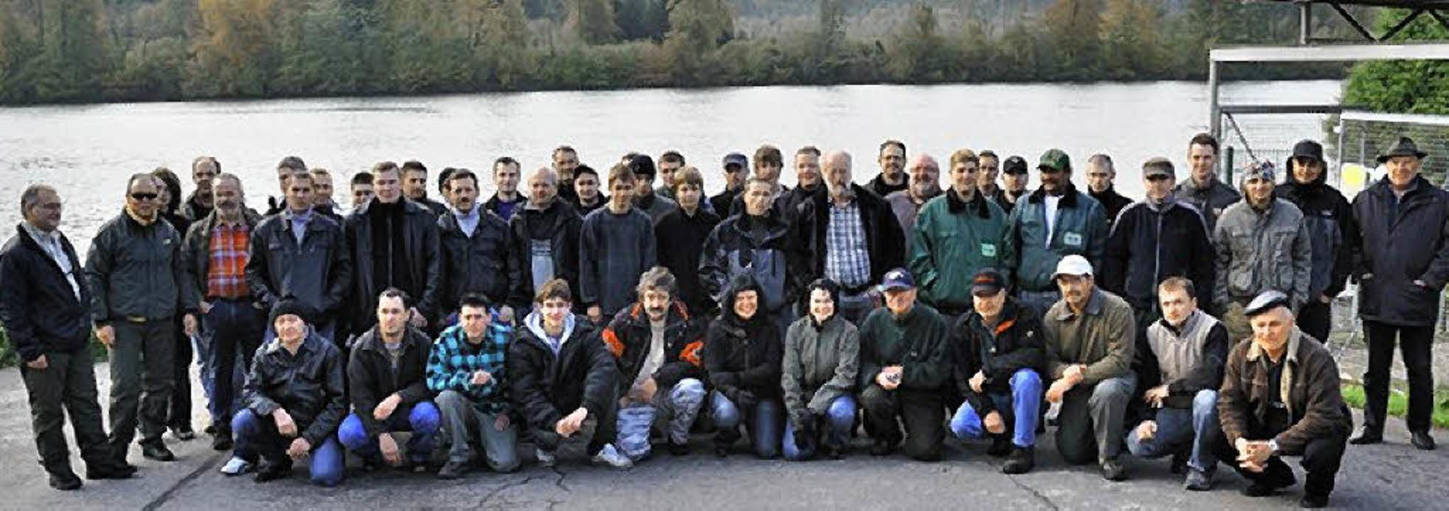 Teilnehmer des Anglerpraxistages  | Foto: Lustig