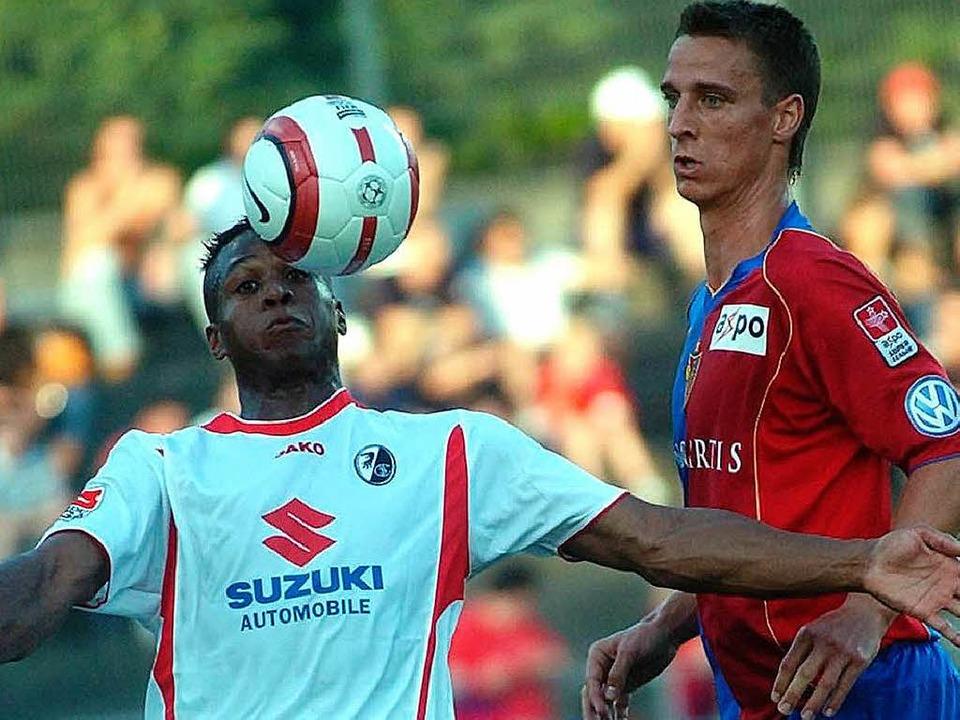 Der Basler Reto Zanni (rechts) war bei...m Stadion Schützenmatte bereits dabei.  | Foto: Meinrad Schön