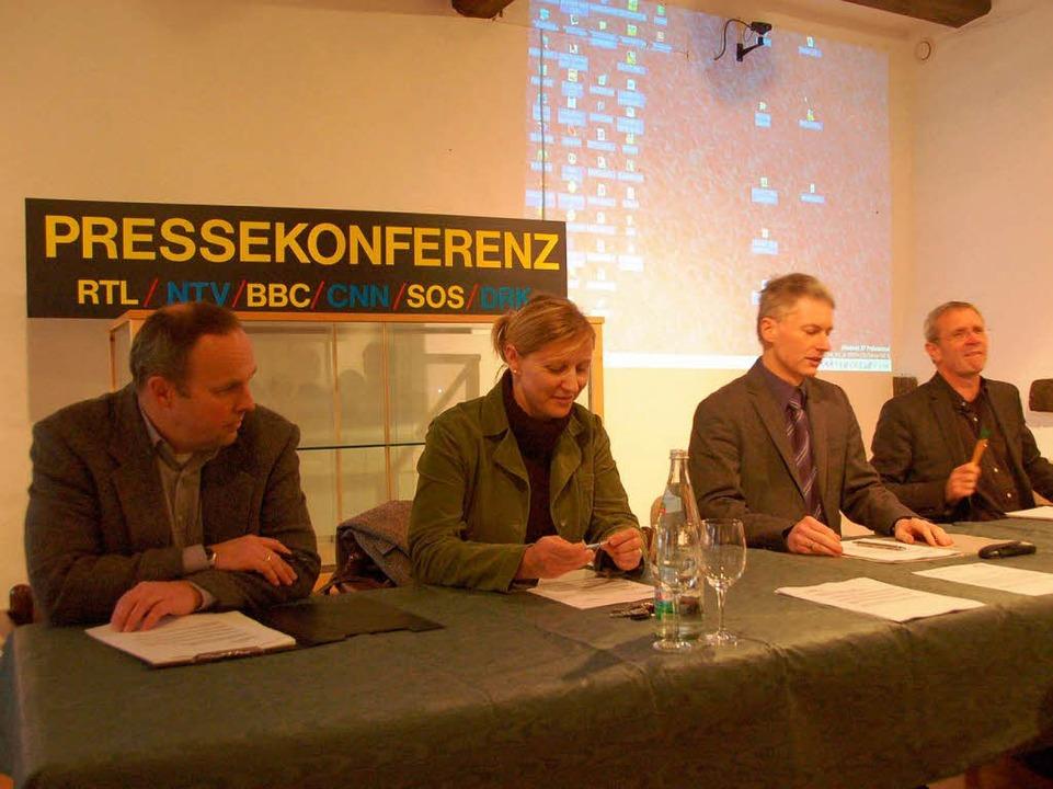 Pressekonferenz heute in Staufen. Das ...on der Fasneteröffnung zurückgelassen.  | Foto: Markus Donner