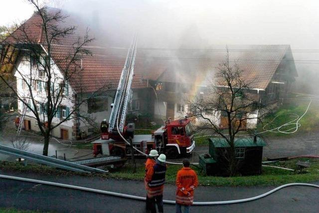 Dachstuhlbrand in Schweighausen