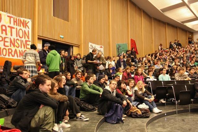 Studenten wollen Audimax auch während der Demo besetzt halten