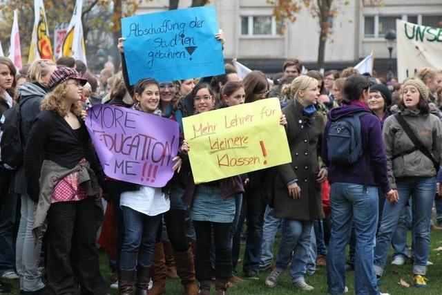 Großdemonstration in der Freiburger Innenstadt