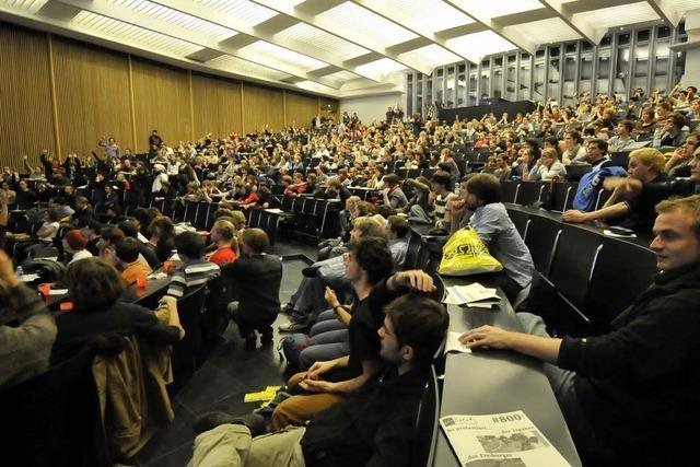 Studenten stimmen gegen Audimax-Räumung