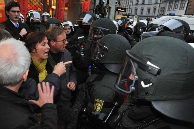 Grüne: Landtag soll Polizeieinsatz diskutieren