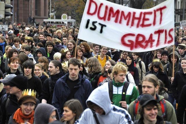 Studierende proben den Aufstand