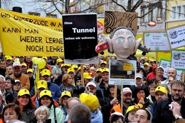 Rheintalstrecke: Nein zu Bahnplänen, aber kein Ja zur Bürgertrasse