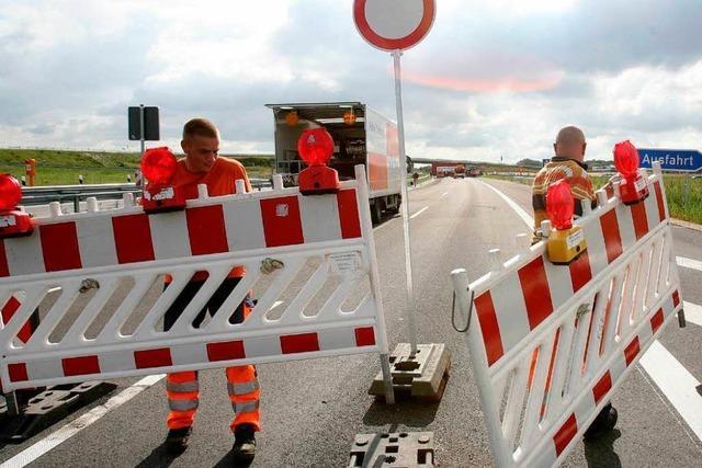 Ortenau: Autobahn wird in der Nacht zum Sonntag gesperrt