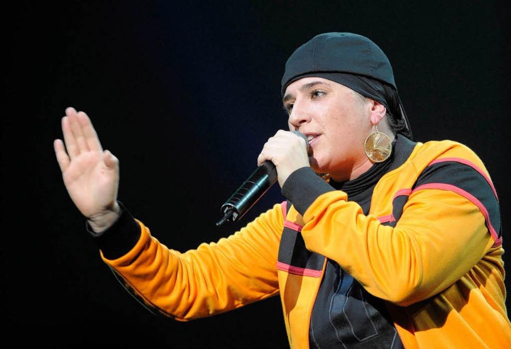 Frankreichs Rapstar Diam's: Nur noch mit Kopftuch auf der Bühne.  | Foto: ImageForum