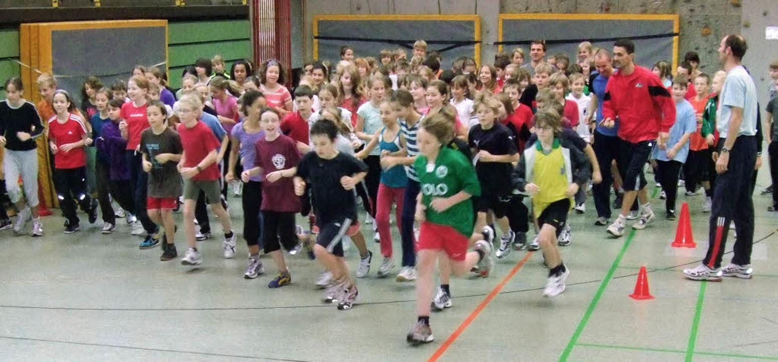 Bewegung muss sein: Fitnesstage am Staufener Faust-Gymnasium   | Foto: Daniela Muthesius