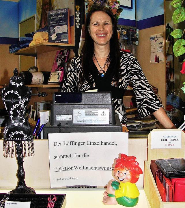 Die Löffinger Einzelhändler (im Bild I...eschäfte über spendenfreudige Kunden.     Foto: C.Maier