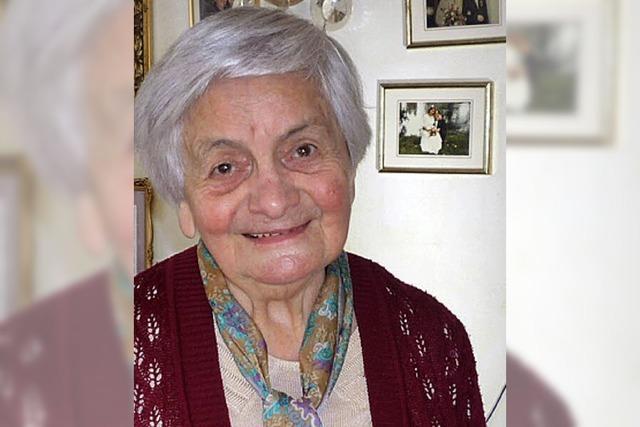 Gertrud Betzler wird heute 90