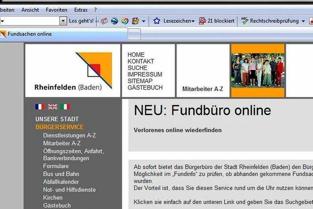 Online-Fundbüros versteigern im Netz