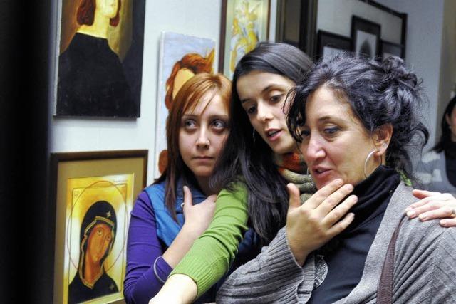 Türkische Studenten zeigen ihre Arbeiten