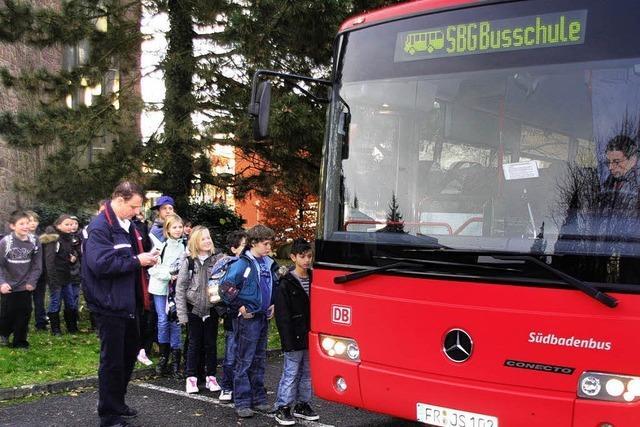 Richtig Busfahren will gelernt sein