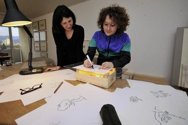 Jugendkunstpreis: Wenn sich Malerin und Gewinnerin treffen