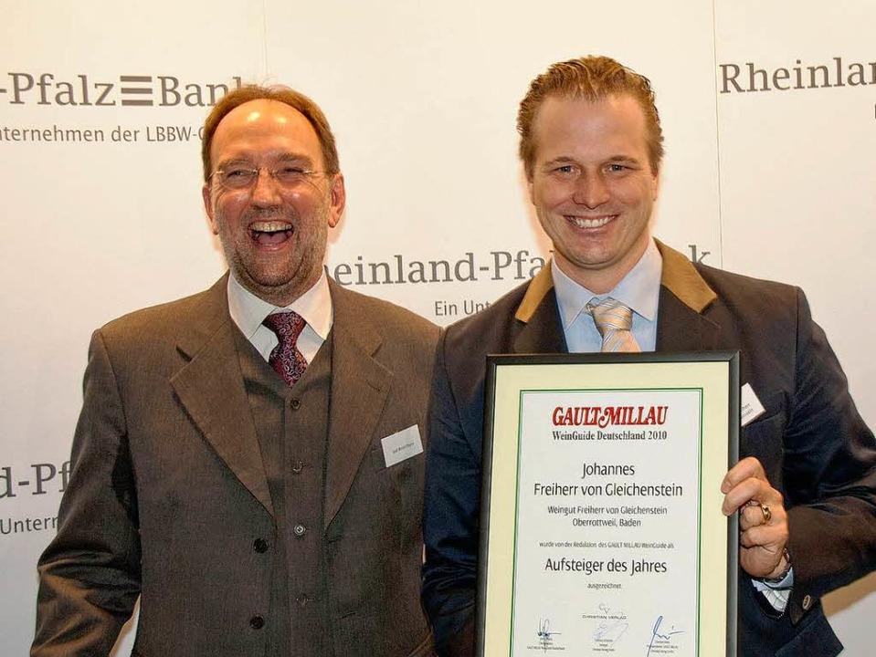 Freiherr Johannes von Gleichenstein wu...lau zum Aufsteiger des Jahres gewählt.    Foto: privat