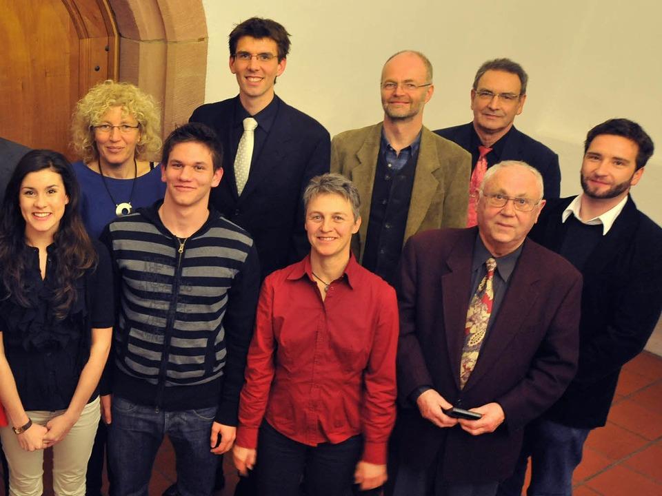 Einige der mit dem Preis für Zivilcourage ausgezeichneten Bürger.  | Foto: Michael Bamberger