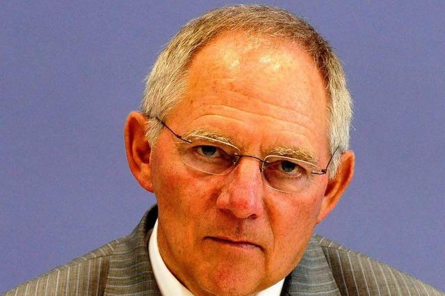 Interview: Schäuble auf striktem Sparkurs
