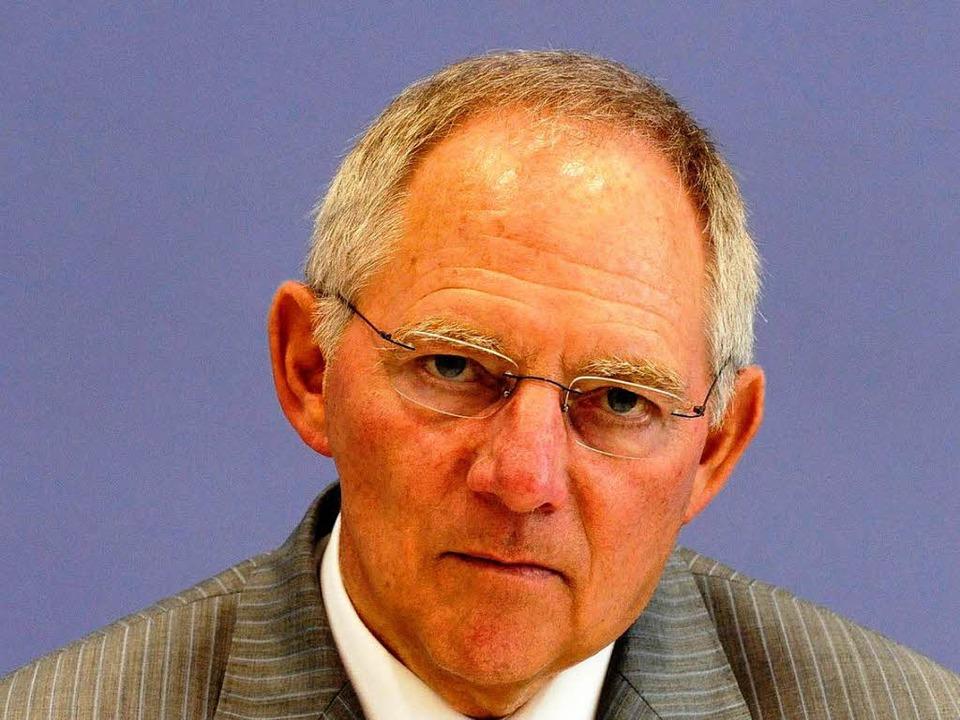 Finanzminister Wolfgang Schäuble  | Foto: ddp