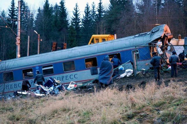 26 Tote in russischem Schnellzug