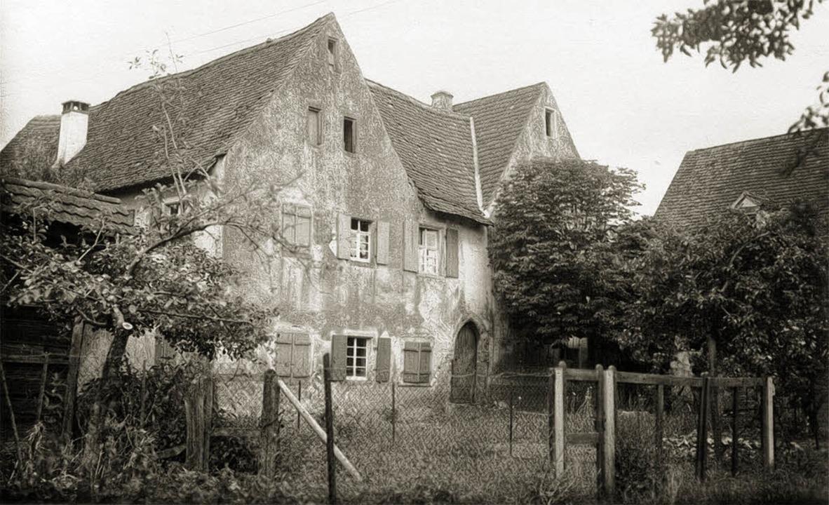 Das undatierte historische Foto zeigt ... des Wasserschlosses in St.  Nikolaus.  | Foto: privat