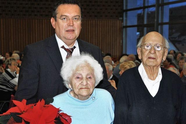 Mit 94 und 95 Jahren beim Altennachmittag