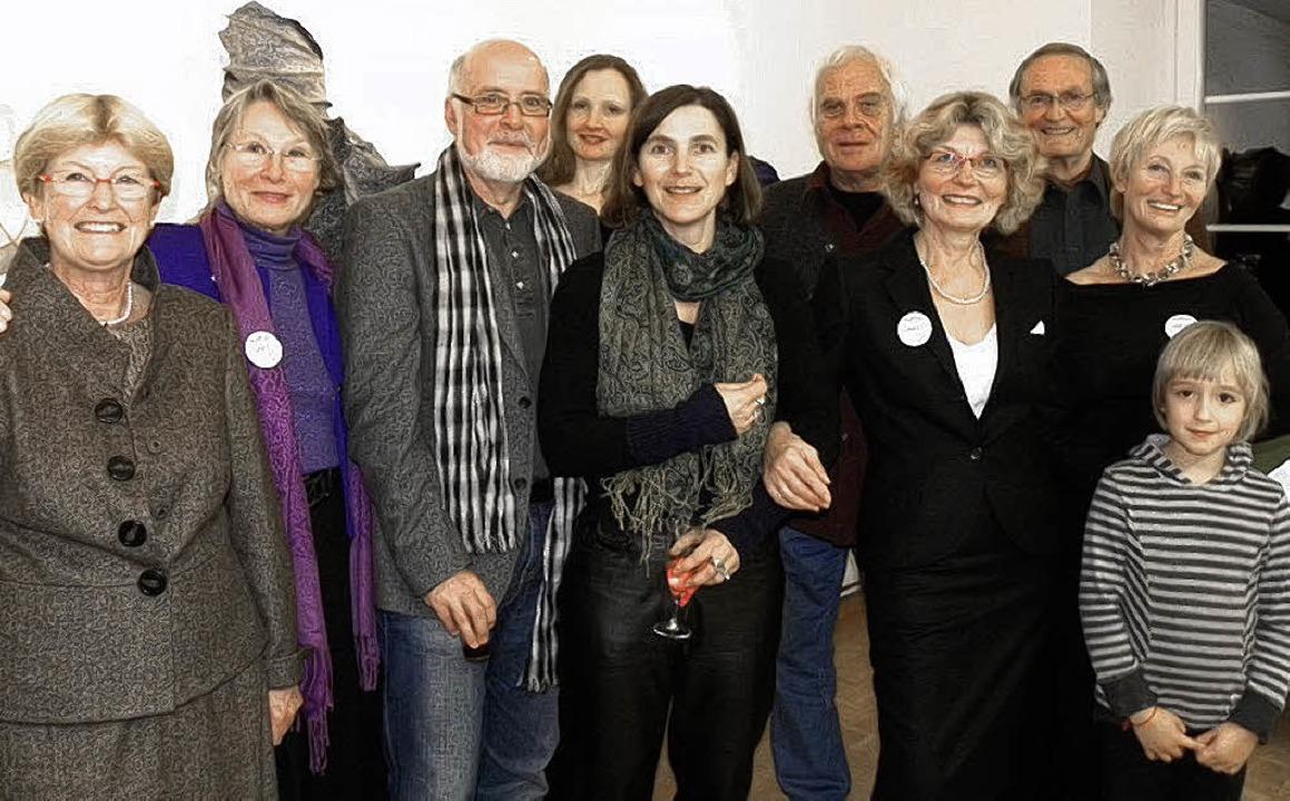 Feierten  mit Kunstfreunden den fünfte...zende Renate Kaiser und Maria Duffner   | Foto: KERSTIN LUX