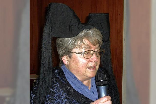 Humorvoller Auftritt von Ursula Sturm