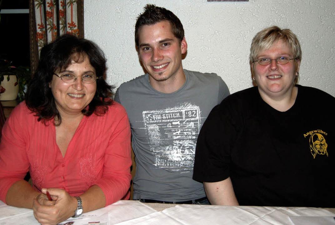 Führungs-Trio der Bergvogtei Riedichen...mgartner und Vögtin Nicole Seeberger.   | Foto: Paul Berger