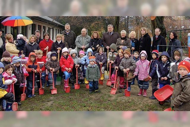 Schliengens Kindergartenkinder starten die Bauphase