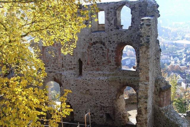 Die Burg hat Winterpause