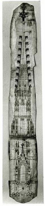 Entwurf für den Freiburger Münsterturm...n Nürnberg, Ende des 13. Jahrhunderts.  | Foto: Universität Karlsruhe