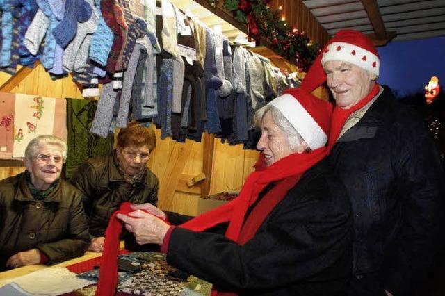 Im Dorf bestücken die Münchweierer selbst den Markt