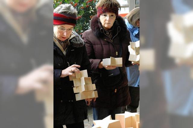 Holzsterne bringen Weihnachtsstimmung
