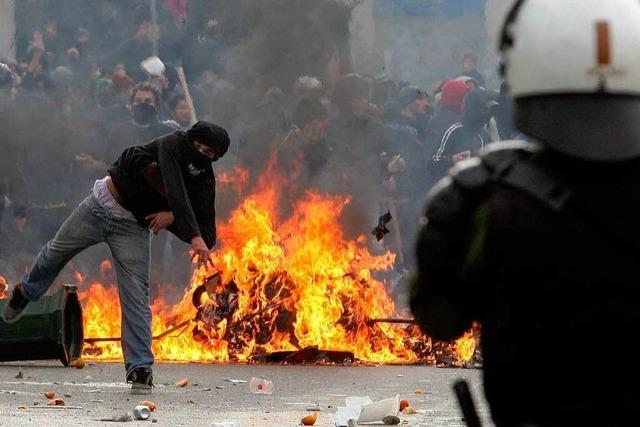 Schwere Unruhen in Griechenland